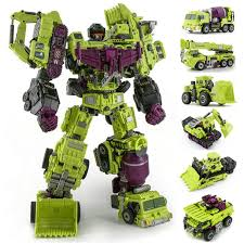 JINBAO NBK <b>Oversize 6 IN 1</b> Devastator Transformation Toys boy ...