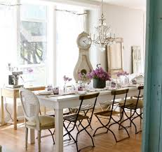 distressed white chandelier dining room shabby chic style with french chair white dining table chic shabby french style distressed