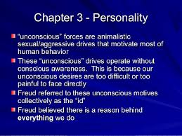 Theory of personality  altntv  SlideShare         Chapter     Personality   unconscious    forces