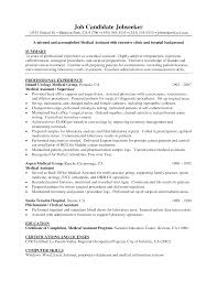 good medical assistant resumes template good medical assistant resumes