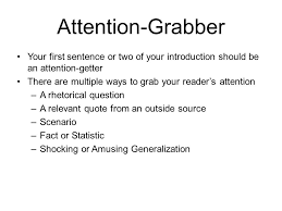 ant tiqa rrc introduction your introduction paragraph is the  attention grabber your first sentence or two of your introduction should be an attention