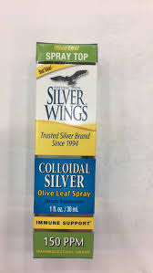 Colloidal <b>Silver</b> Olive Leaf Spray Immune Support Dietary Supplement