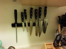 kitchen storage solutions magnetic knife stripe this was two layers of velcro tape because one layer wasnt thick enoug