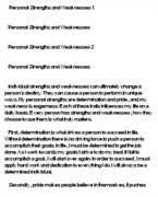 free personal strengths essays and papers   helpme personal strengths essay