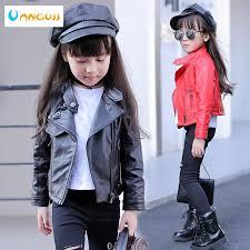 <b>girls pu jacket rivet</b> zipper cool jacket Leather clothing for girls 5-13 ...