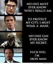 f you im iron man batman superman iron man