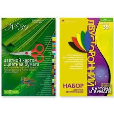 <b>Набор цветной бумаги и</b> картона Альт (А4, 30 листов, 50 цветов ...