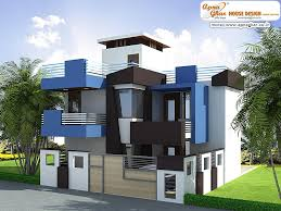 Duplex house  House exteriors and Link on PinterestModern Duplex House Exterior Elevation in m   m X m  Like  share