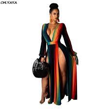 <b>2019</b> women summer colorful <b>striped</b> halter deep v neck open back ...
