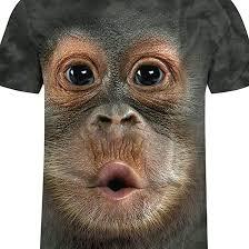 Animal T Shirts for <b>Men</b>,<b>Mens</b> Funny Cute <b>Fashion</b> Monkey <b>Printed</b> ...