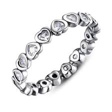 BAMOER 925 Sterling Silver Open Heart Stackable ... - Amazon.com