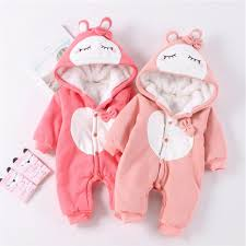 Baby Jumpsuit <b>Autumn and Winter Thickening</b> Warm Cotton Outdoor ...