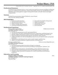 certified nursing assistant resume example resume format and sample
