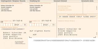 swiss orange isr payment slip sap interesting part of payment slip is isr code isr code is combination of invoice value bank account customer number check digit in certain order
