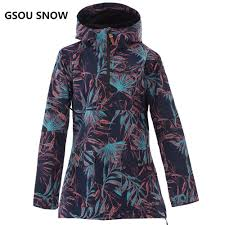 GSOU SNOW Women Skiing <b>Jacket Waterproof</b> Breathable ...