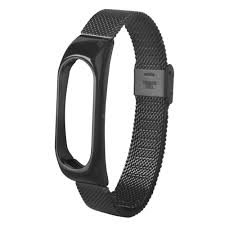 For Xiaomi Mi Band 2 Mesh Stainless <b>Steel</b> Bracelet Wristband ...