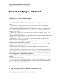 management job description account management job description