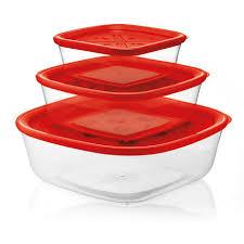 <b>Набор из 3 контейнеров</b> Guzzini forme casa красный — купить по ...