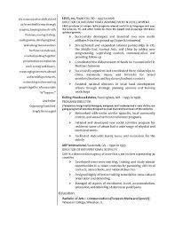 International Relations Resume Example Director International Relations Resume Example