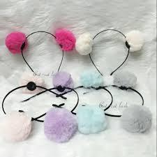 <b>Korean</b> Pompom <b>Fur Ball</b> Headband | Shopee Philippines