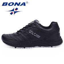 <b>BONA New Classic Style</b> Men Running Shoes Cow Leather Sport ...