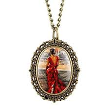 Delicate <b>Bronze Watch</b> Women Back Figure Pattern Quartz <b>Pocket</b> ...