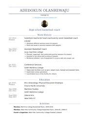 Head Coach Resume Samples - VisualCV Resume Samples Database Substitute Teacher/Jv Head Coach/Varsity Assist Basketball Coach Resume Samples