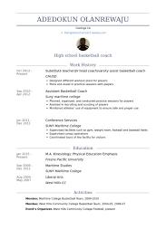 Head Coach Resume Samples - VisualCV Resume Samples Database Substitute Teacher/Jv Head Coach/Varsity Assist Basketball Coach Resume Samples