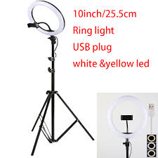 10inch 25cm USB charge New <b>Selfie</b> Ring <b>Light Flash Led</b> Camera ...