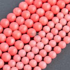 Купить <b>Коралл розовый</b> натуральный <b>бусины шарики</b> 4 6 8 мм по ...