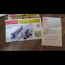 Новая <b>швейная</b> ручная <b>машинка Zimber</b> – купить в Сочи, цена 1 ...