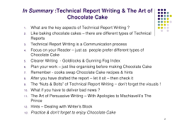 Online Technical Writing  Lists Formal Report Writing      Technical Report Writing This article provides some general guidelines and  quot tips