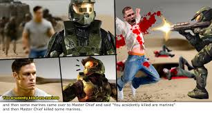 "and then some marines came over to Master Chief and said ""You ... via Relatably.com"