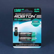 <b>Аккумулятор AA</b> DECT, 1.2 В, 1300 мАч, NiMH BL2, <b>ROBITON</b> ...