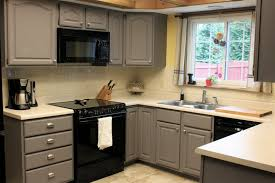 painted kitchen cabinets vintage cream: image of vintage painting kitchen cabinets gray plans