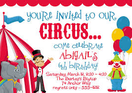 kids birthday party invitations templates printable kids awesome birthday party circus2