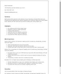 HVAC resume That Stands Out   Best Resume Brefash