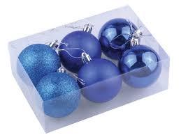 <b>Набор шаров Золотая сказка</b> 6шт 8см Blue - Чижик