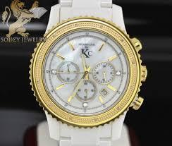 mens diamond watches kc techno com soicyjewelry com 0 15ct techno com by kc diamond watch white ceramic