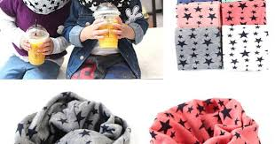 1Pc New Fashion <b>Winter</b> Warm Stars Collar Children O Ring Neck ...