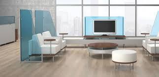 black blue glass top modern office