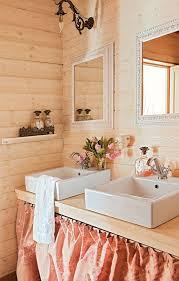 feminine bathroom peach