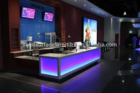 custom made logo embed led furniture acrylic bar counterreception deskfront desk designs acrylic lighted reception desk reception counter design