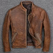 Free shipping.Plus size <b>Brand Classic style</b> cowhide jacket,<b>mens</b> ...