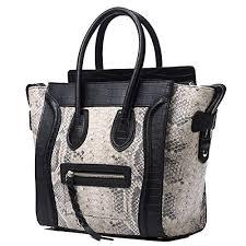<b>Genuine</b> Leather Wings Handbags for Women Serpentine <b>Top</b> ...