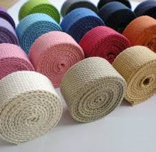 <b>25mm width</b> Polyester-<b>cotton</b> Canvas Webbing Bag Straps 10 colours