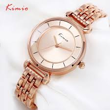 <b>KIMIO Brand Luxury</b> Crystal Gold Watches <b>Women</b> Fashion Bracelet ...