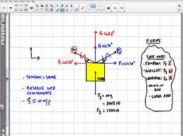 physics calculating the tension of a hanging object