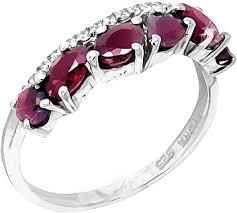 Серебряное кольцо <b>Evora</b> 624683-<b>e</b> с рубинами, кубическим ...