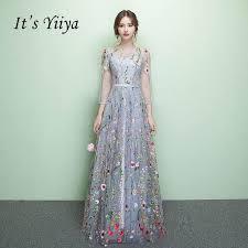 <b>It's Yiiya Evening Dresses</b> Floral Illusion Backless Print Zipper A-line ...